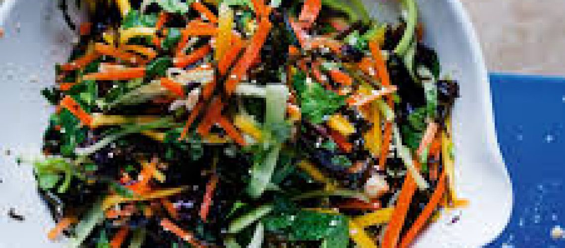 Sea Spaghetti, Ginger and carrot salad